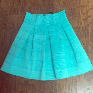 Honey punch blue skirt.